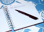 ...to start writing...