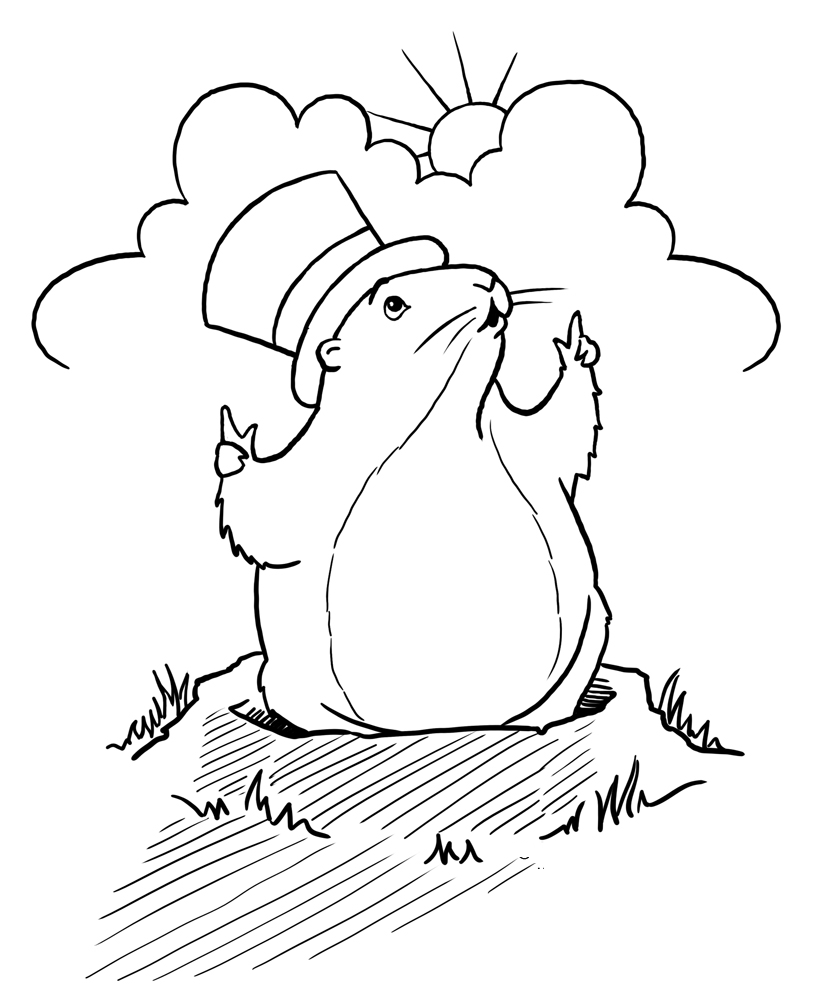 Groundhog Day Children S Stories Poems Carolyn S Ground Hog Coloring Page