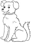 Dog-Big-Smile-Coloring-Page