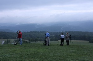 Westmoreland Photography Society members gather to photograph Laurel Ridge from Kentuck Knob in PA
