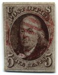 First U. S. stamp