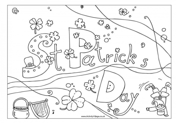 zabbar st patricks day coloring pages - photo #26