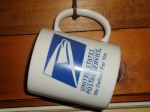 This mug was an anniversary gift from the Postmaster at Dickerson Run, PA, Post Office