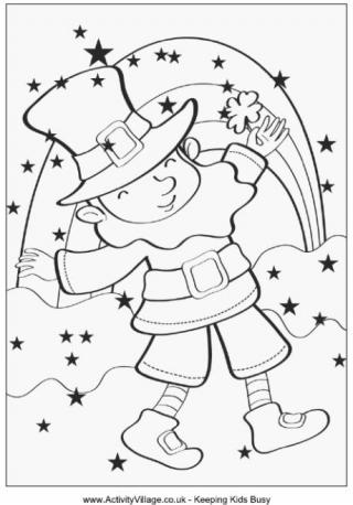 St patrick s day children s stories poems carolyn 39 s for St patrick s day rainbow coloring pages