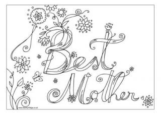 people of a mom coloring pages | Mother's Day—Children's Stories & Poems | CAROLYN'S ...