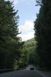 Continuing through the cut in the Chestnut Ridge