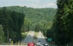 Traveling toward the Laurel Ridge