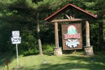 Passing the entrance to Idlewild Amusement Park