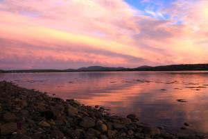 Sunset from East Lamoine Beach, Maine
