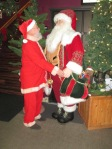 Santa meets Santa at Latrobe Airport in Pennsylvania