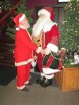 Santa meets Santa at Latrobe Airport in Pennsylvania