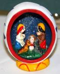 This colorful nativity is the size of a large egg. A gift from a friend on an Arizona trip. Anne Mary Campbell
