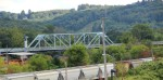 Bridge and trains seen from Rt. 422 E