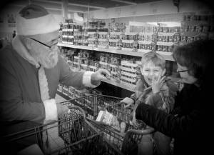 Santa in the grocery store?