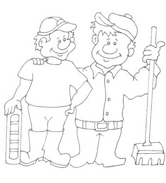 custodian coloring pages - photo#36