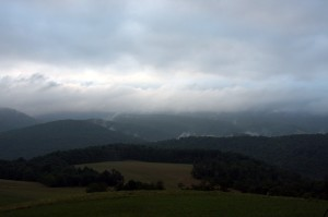 View from Kentuck Knob, sun didn't rise on this morning